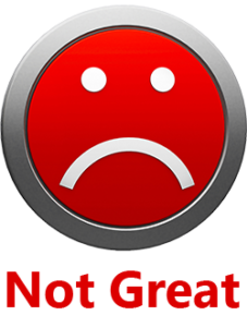 sad face - Not Great